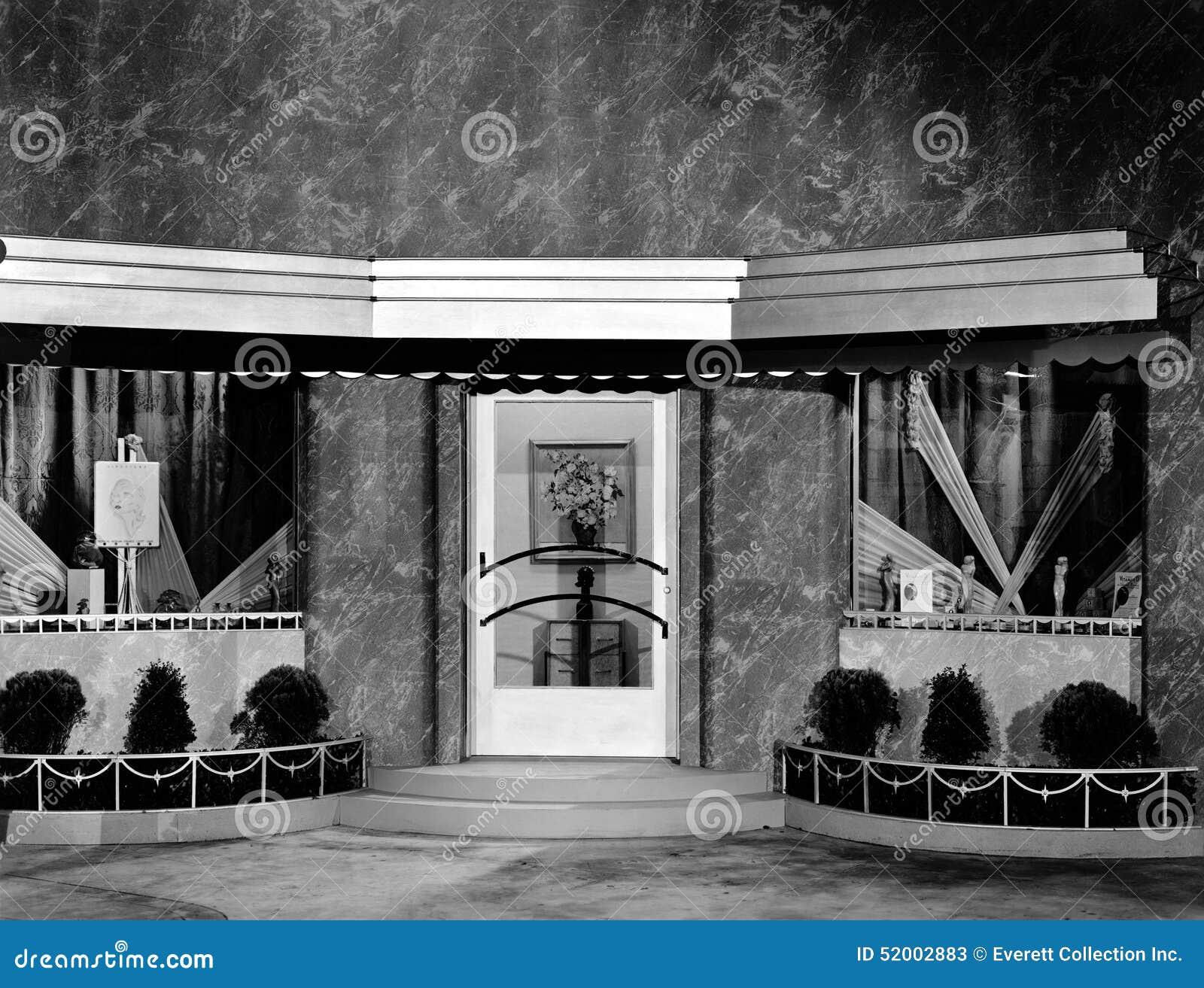 Skyltfönster för filmuppsättning (alla visade personer inte är längre uppehälle, och inget gods finns Leverantörgarantier att det
