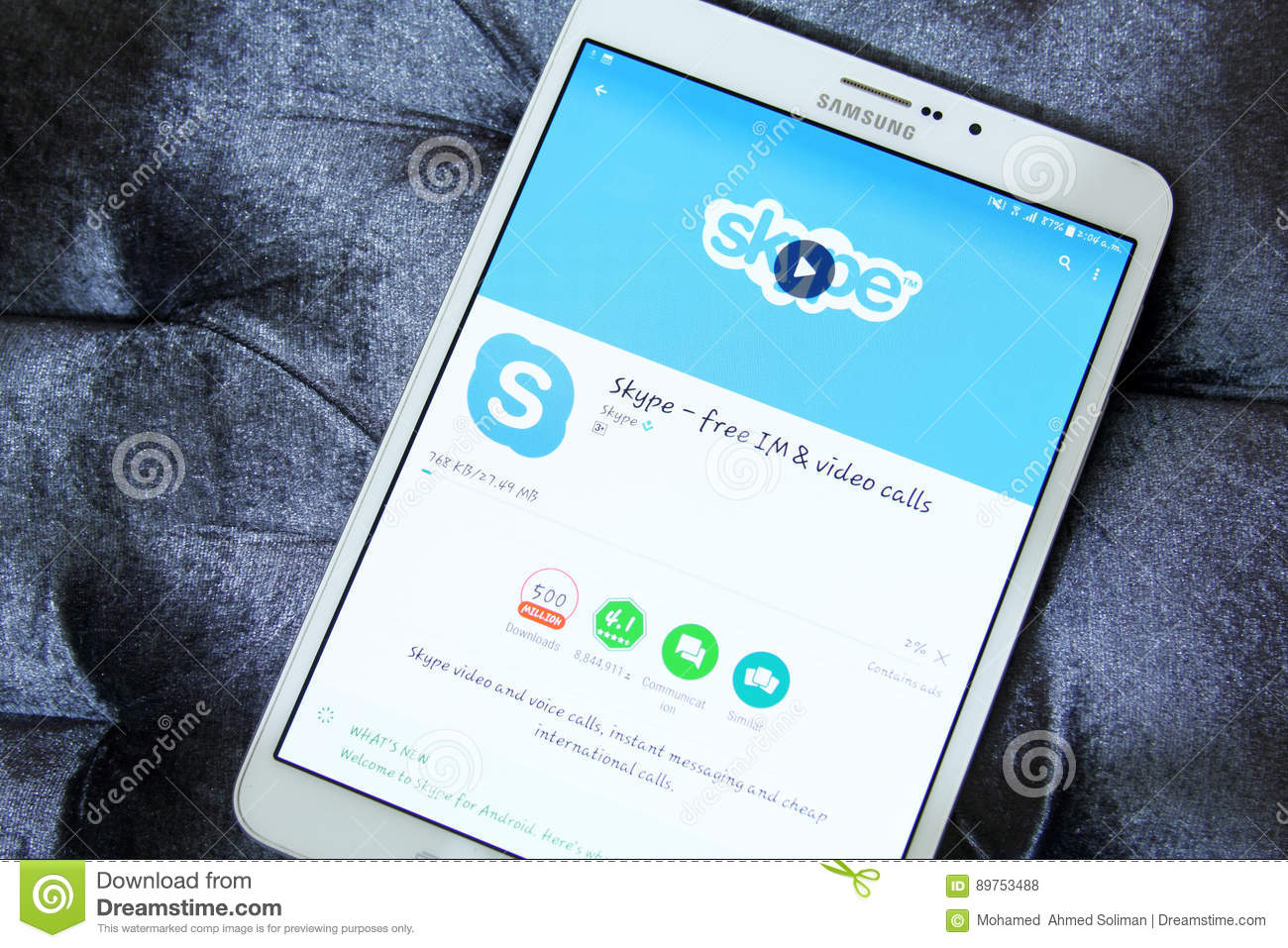 For mobile skype download