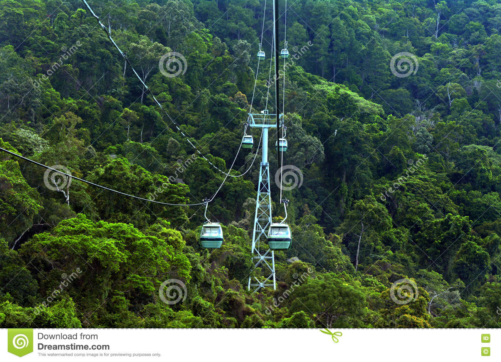 Skyrail RainforestCableway ovanför Barron Gorge National Park Que