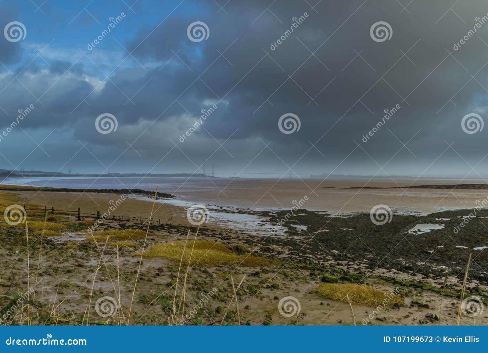 Skys temperamentais Severn Estuary