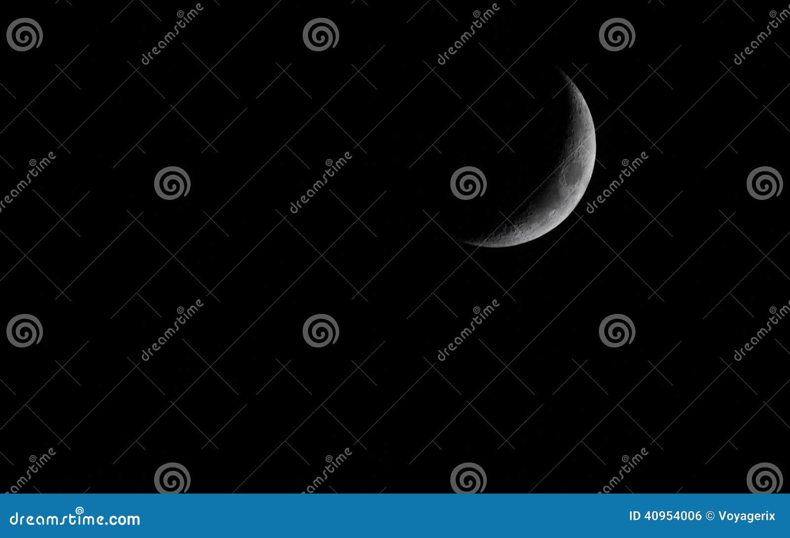 Skyscape  Dark Night Sky With Moon  Astronomy  Stock Photo - Image