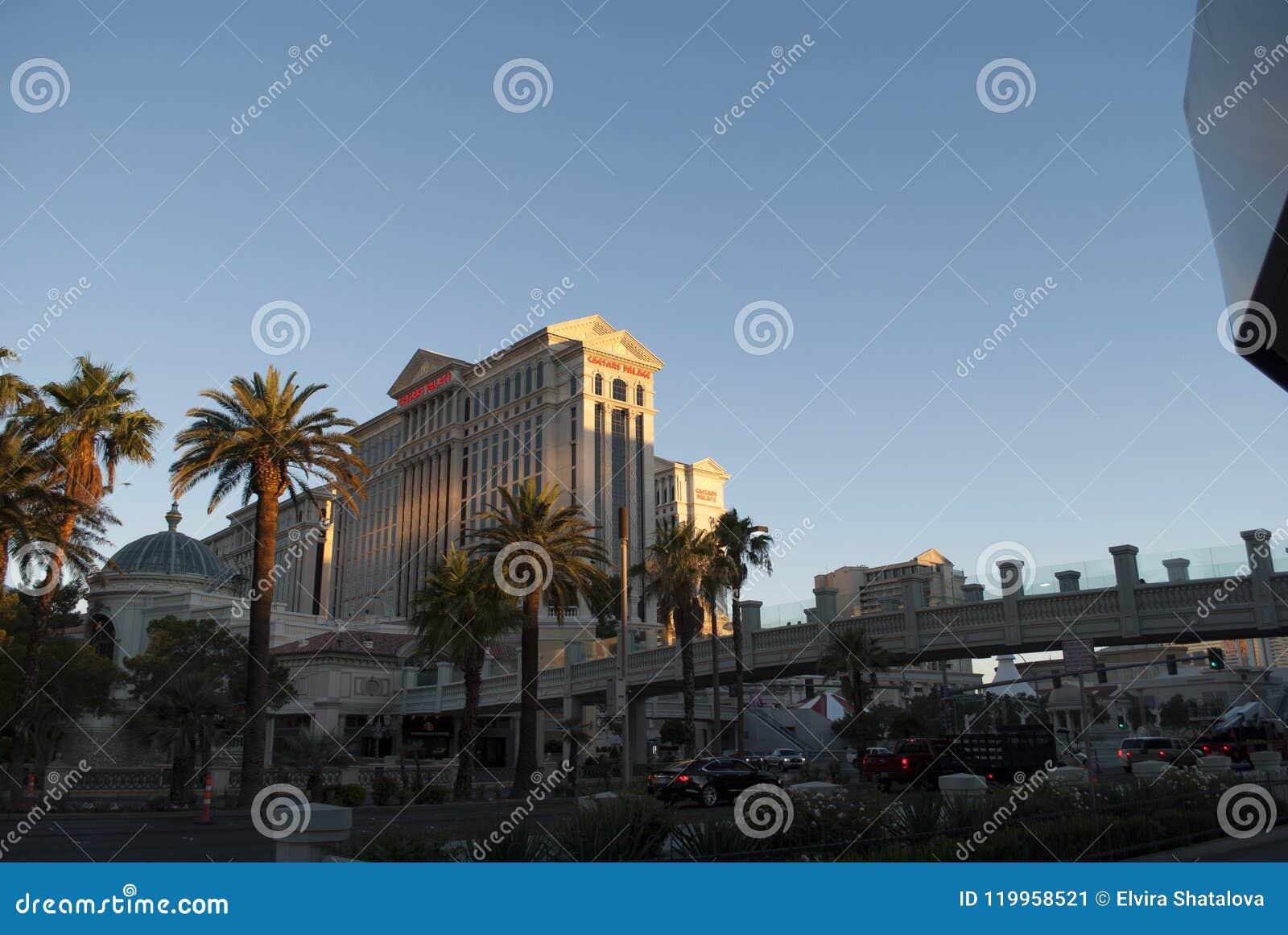 Skyscapers bei Sonnenaufgang Caesars Palace von Las Vegas