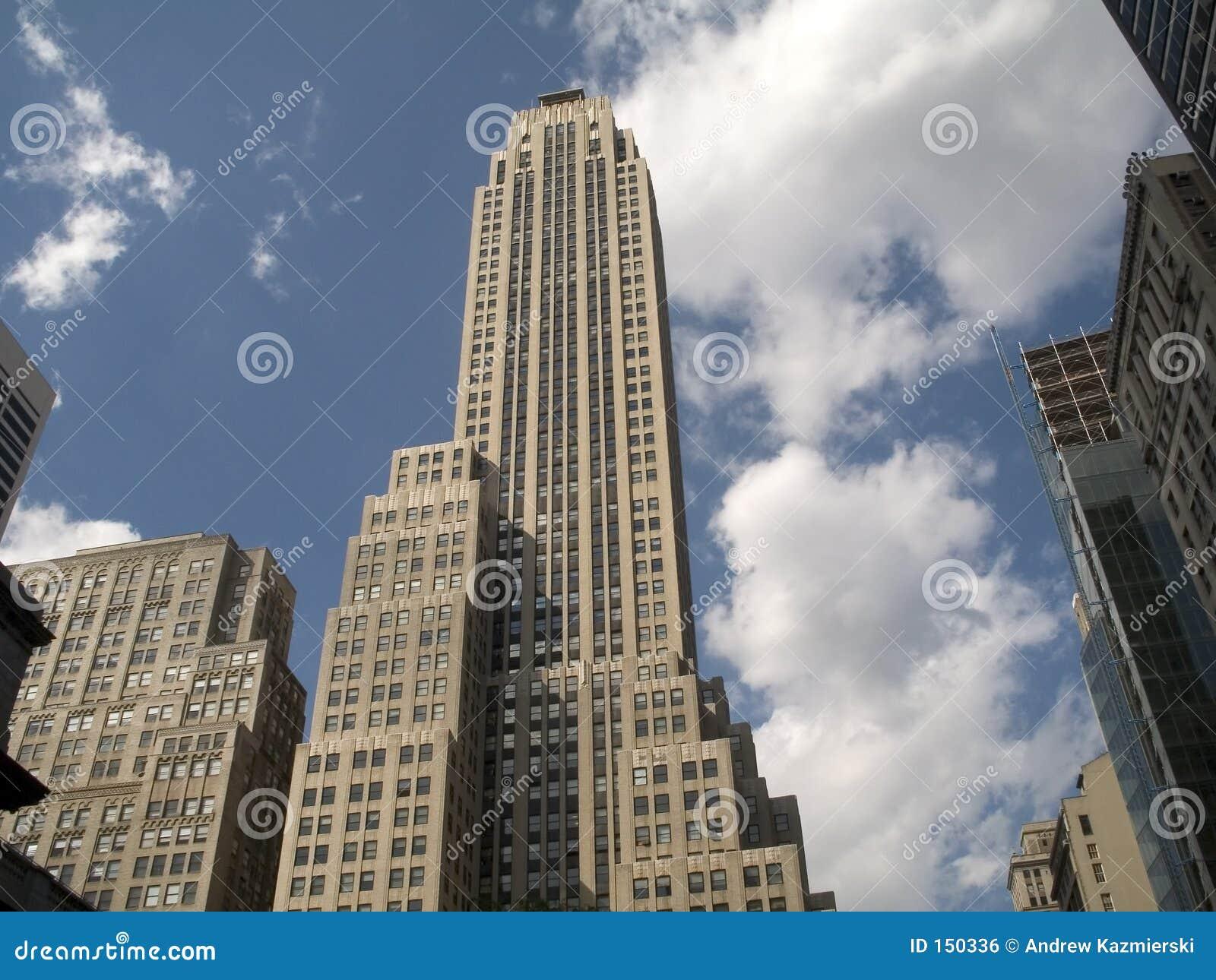 Skyscraper and Clouds