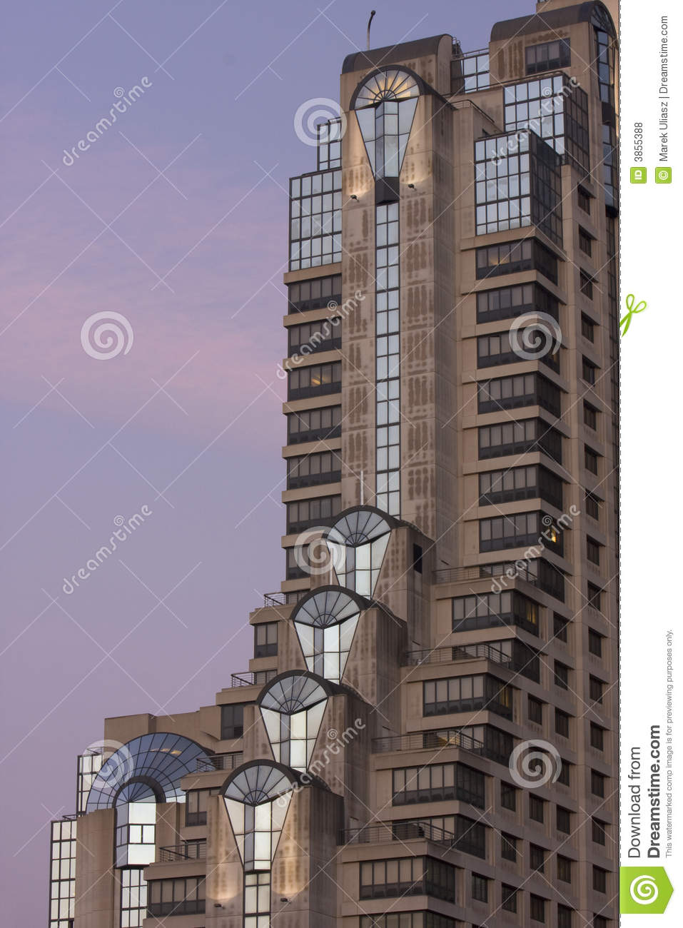 Skyscraper Hotel In San Francisco Before Sunrise Royalty Free Stock Photos Image 3855388