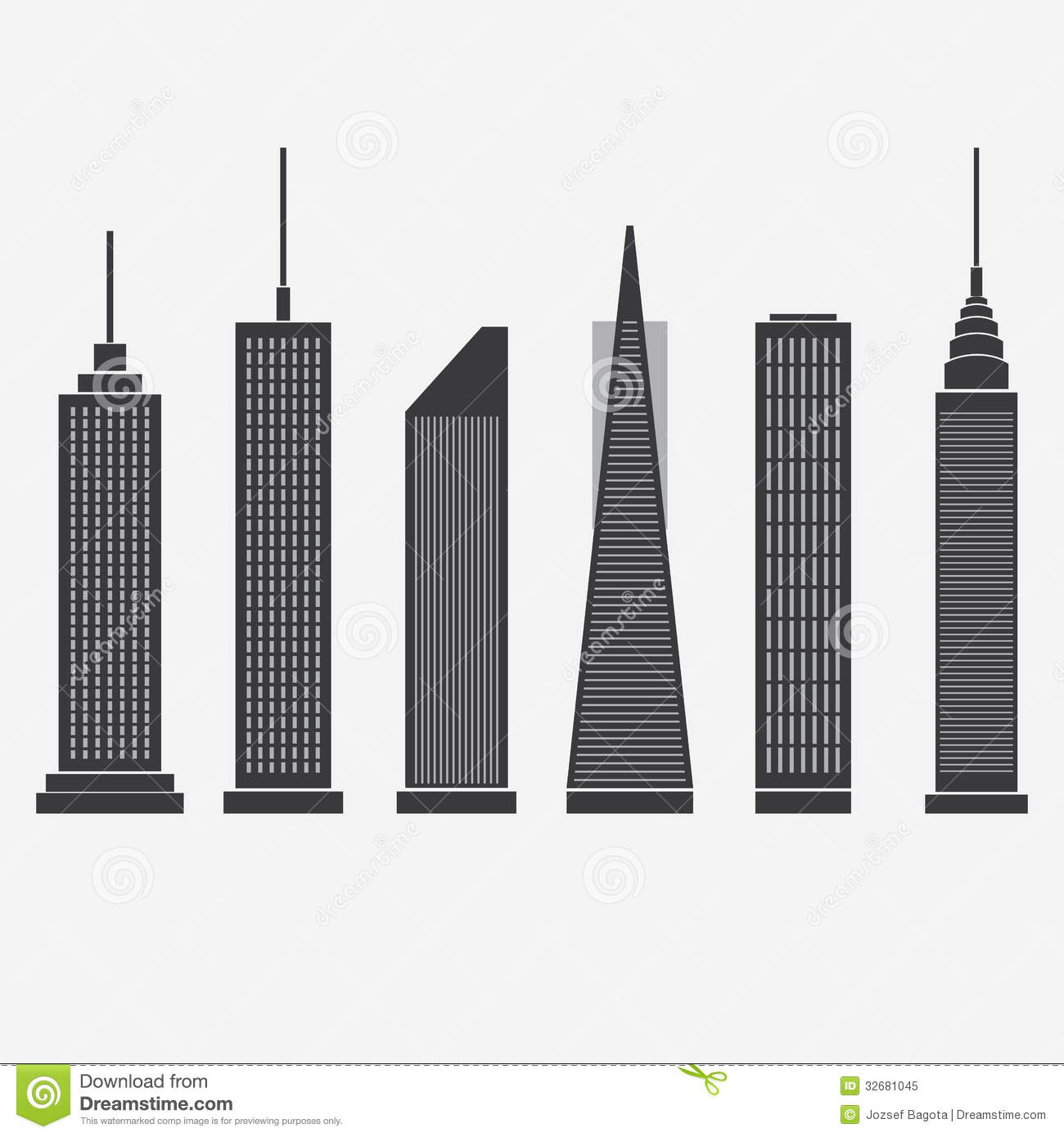 Skyscraper Clip Art Black and White