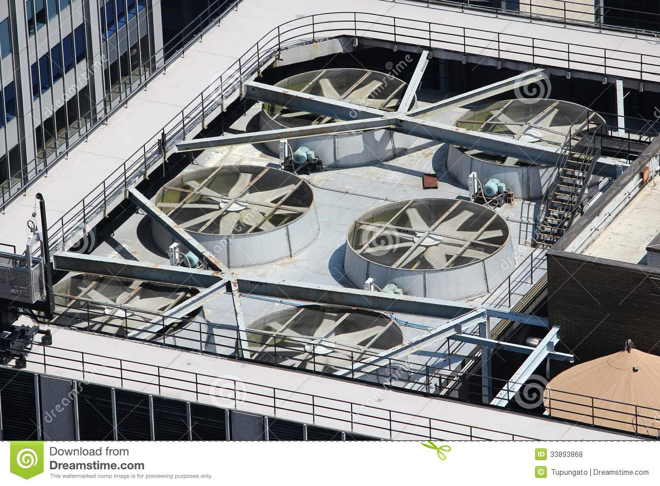 Skyscraper Roof Stock Photo Image Of Exhaust Framework