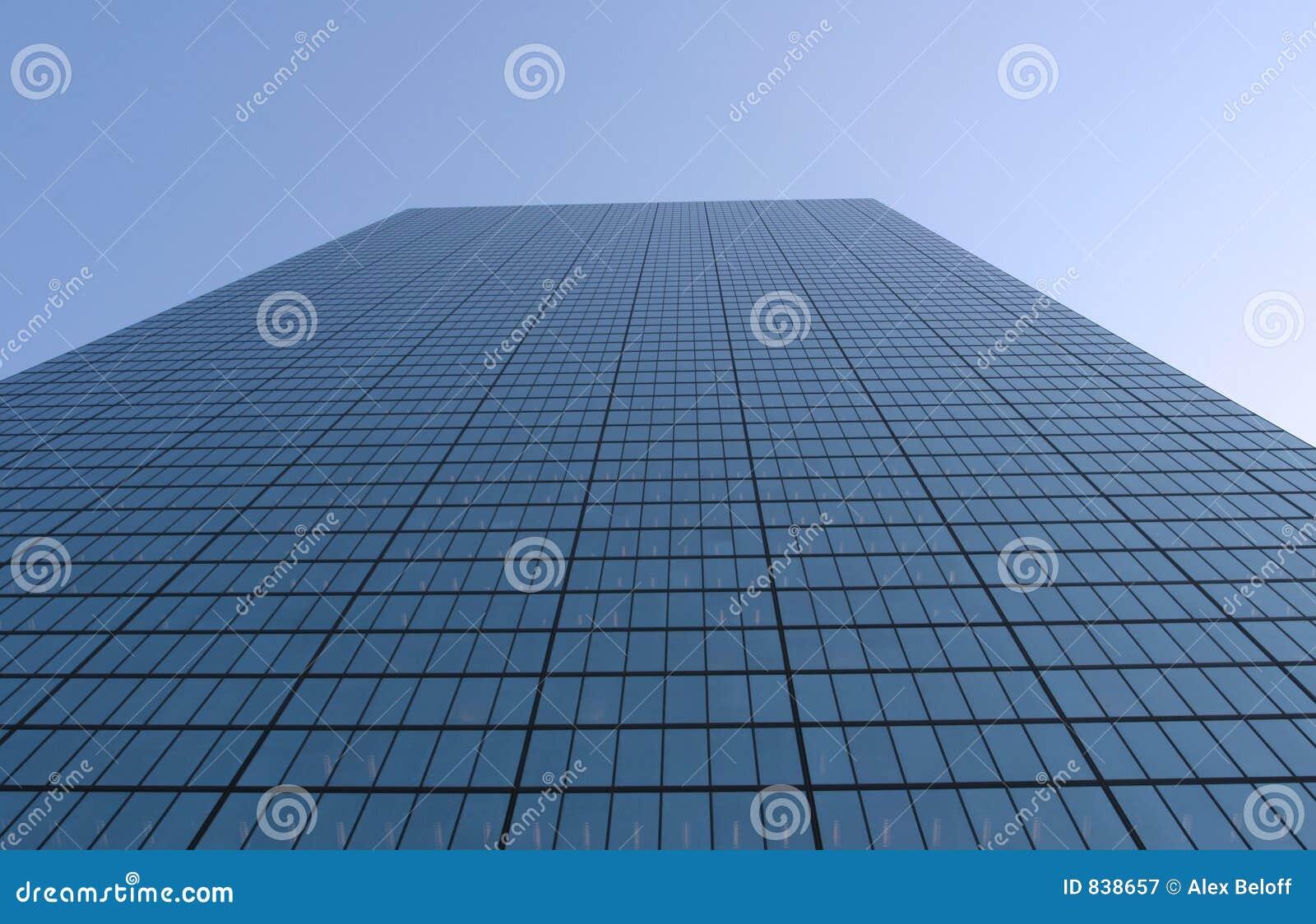 Skyscraper wide angle view