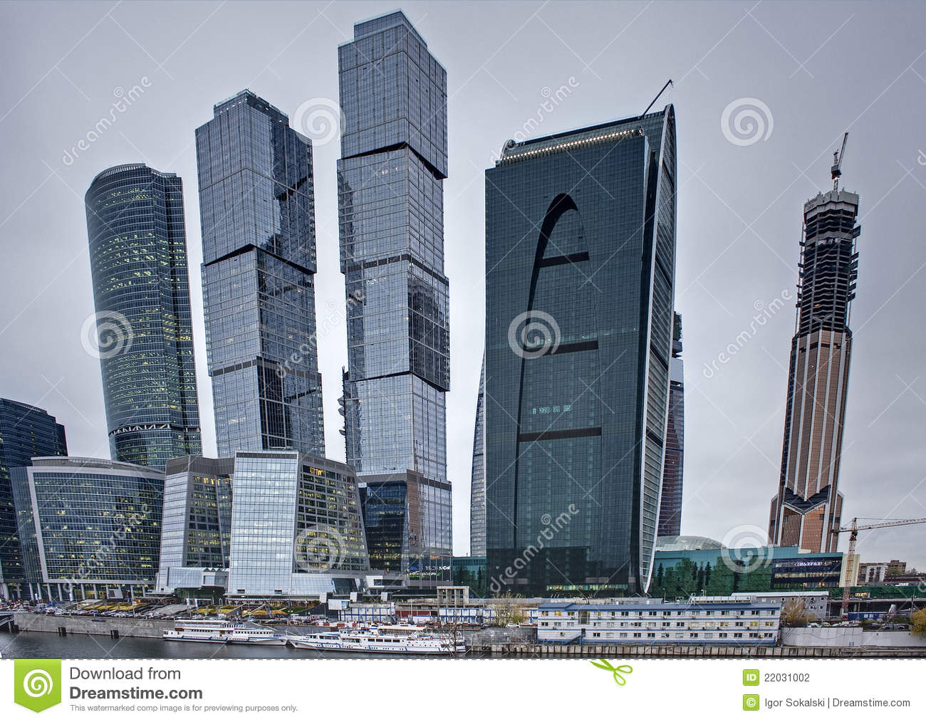 Modern Architecture Skyscrapers modern architecture concept: skyscrapers stock photography - image