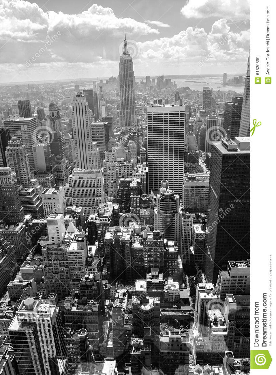 Skyscrapers. Aerial View Of New York City, Manhattan ...