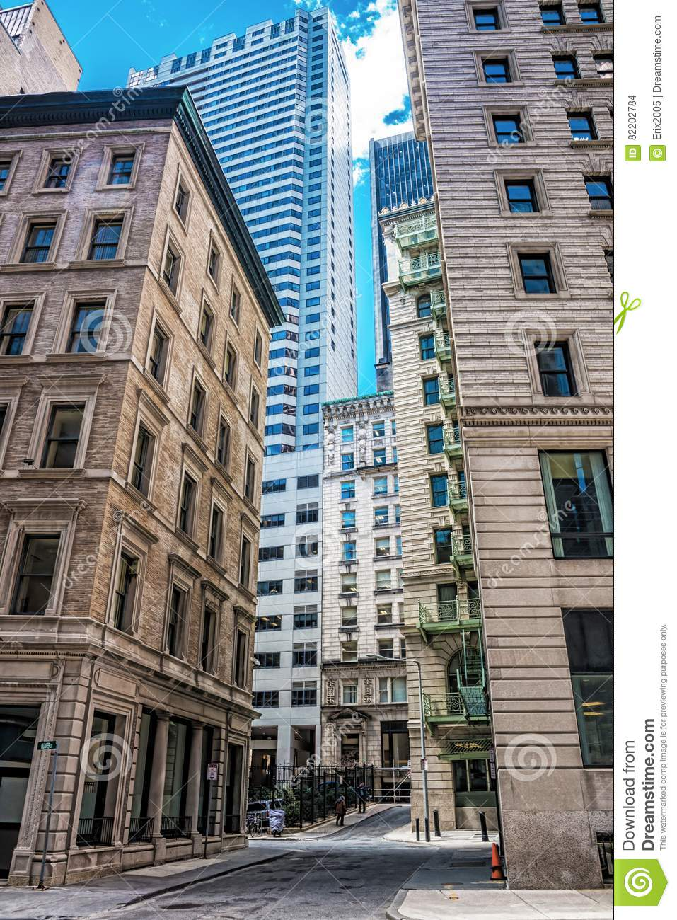 Download Skyscrapers In Congress Street In Financial District Of Downtown Boston Stock Photo - Image of boston, central: 82202784
