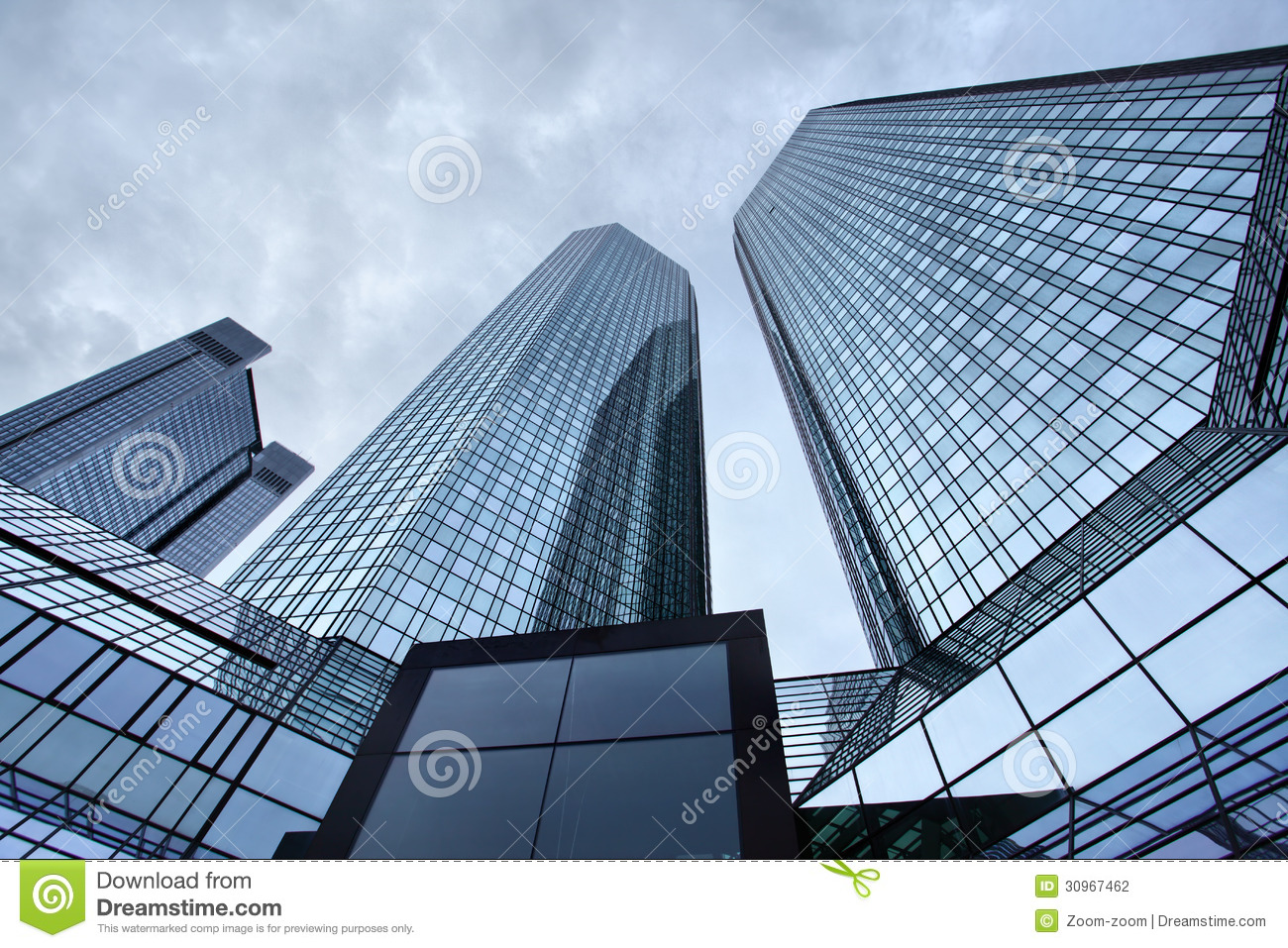 Skyscrapers Of Frankfurt Stock Photography Image 30967462