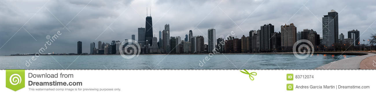 Skyscrapers And Modern Buildings Of Chicago Skyline Stock Photo