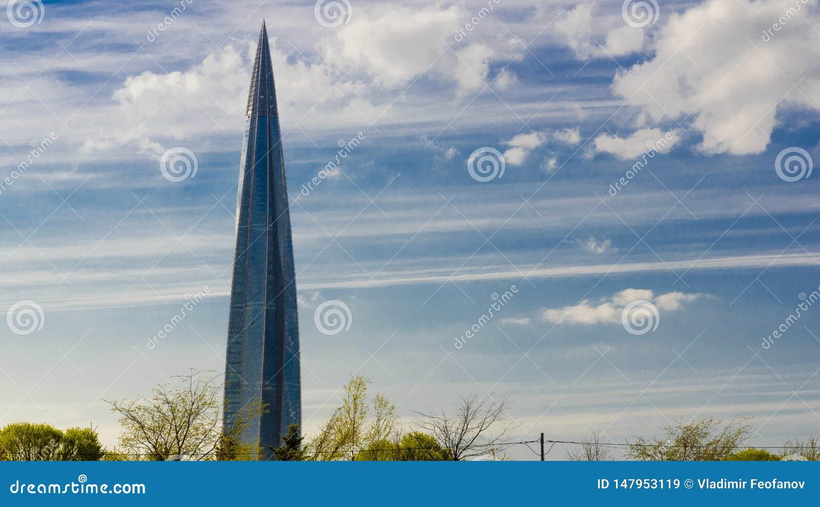 Skyskrapa Lakhta mitth?ghus, Gazprom aff?rsmitt den mest h?gv?xta byggnaden i Europa