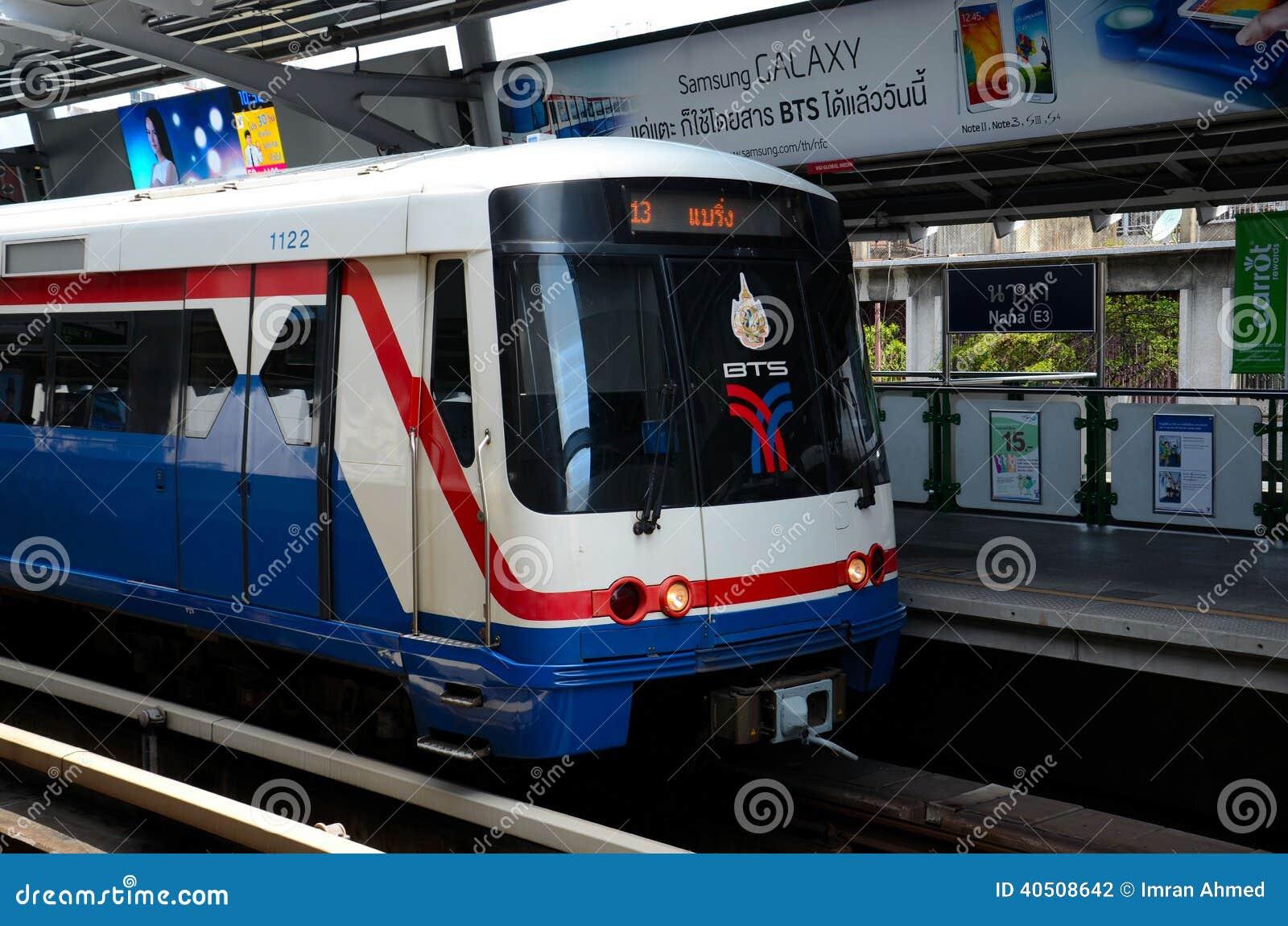 Skytrain carriage metro at nana station bangkok thailand editorial photography image 40508642 - Carrage metro ...