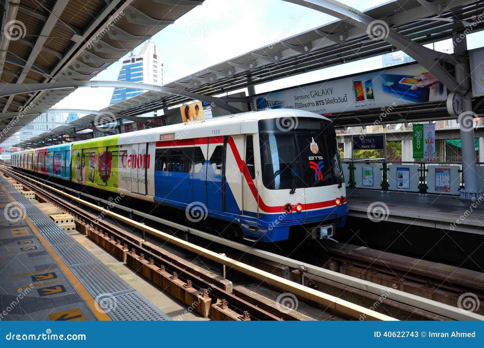 Skytrain carriage metro railway at nana station bangkok thailand editorial stock photo image - Carrage metro ...
