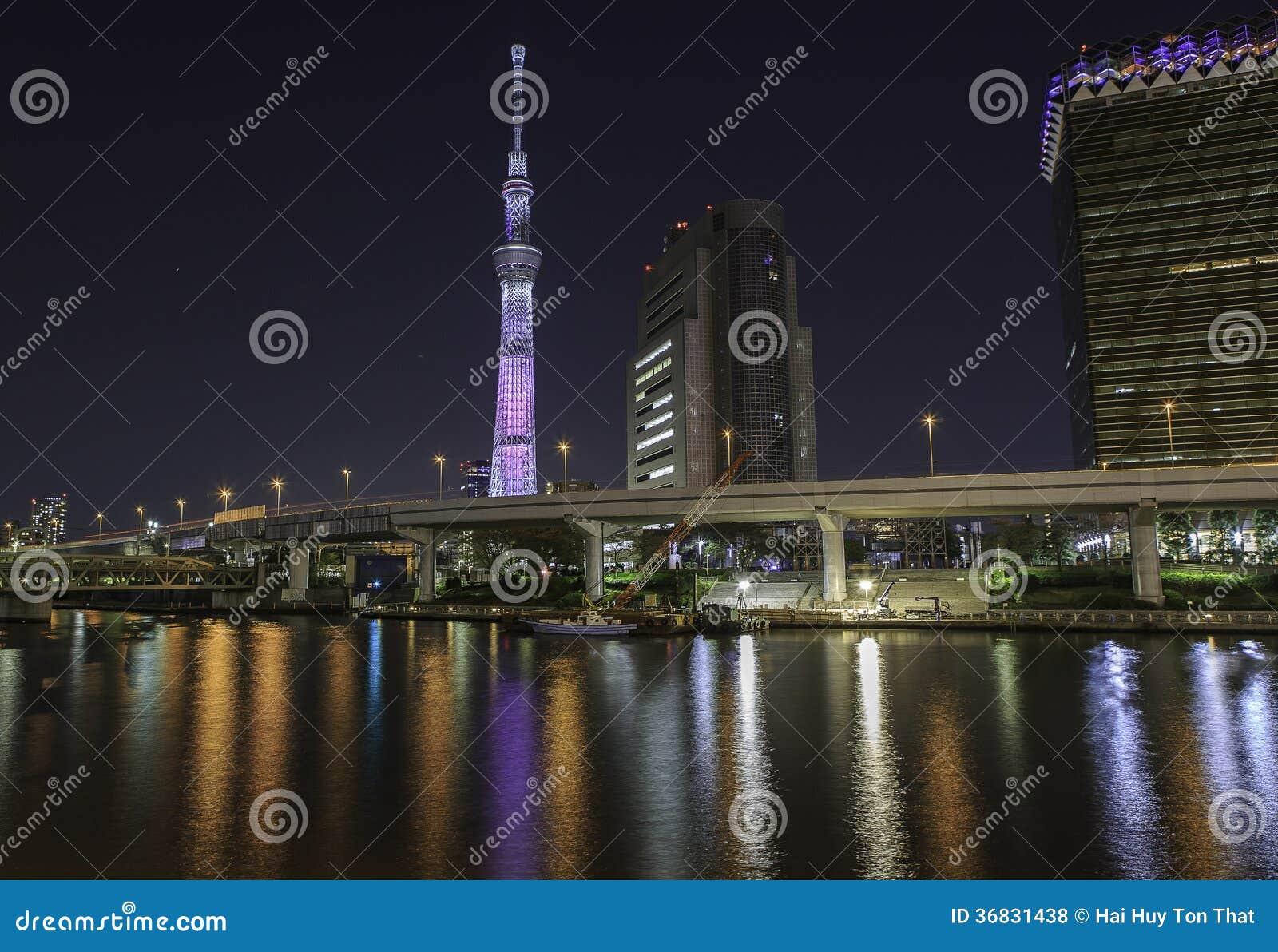 Skytree de Tokyo la nuit