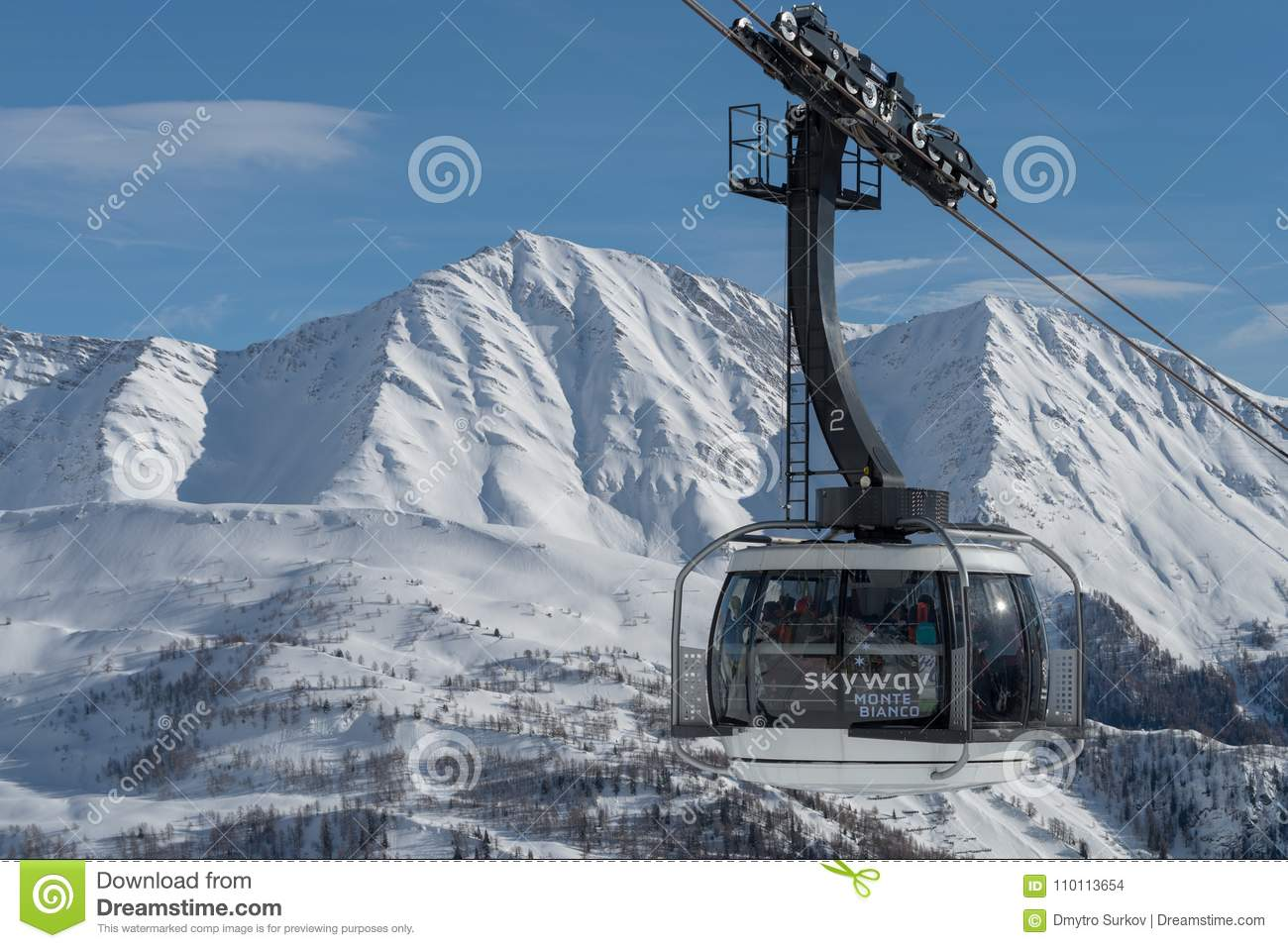 Skyway Monte Bianco, Courmayeur, Italien