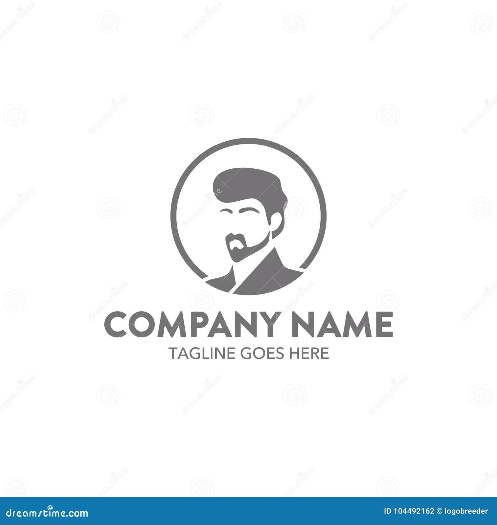 Släkt logomall för unik frisersalong vektor redigerbart