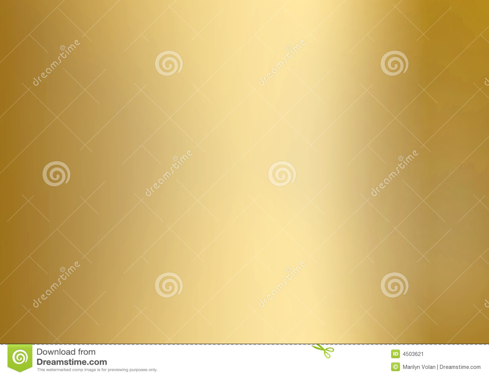 Slät guldmetallplatta