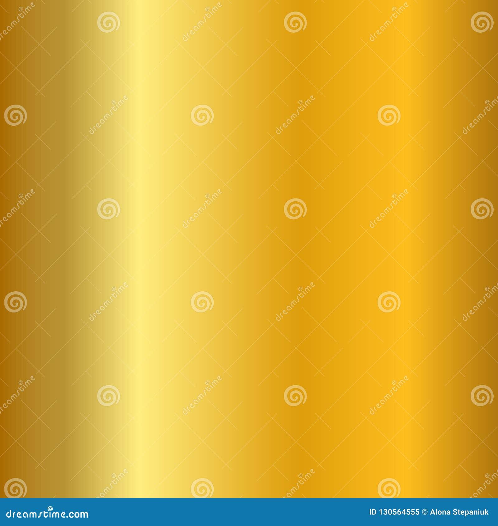 Slät textur för guld- lutning Tom guld- metallbakgrund Ljus metallisk plattamall, abstrakt modell brigham