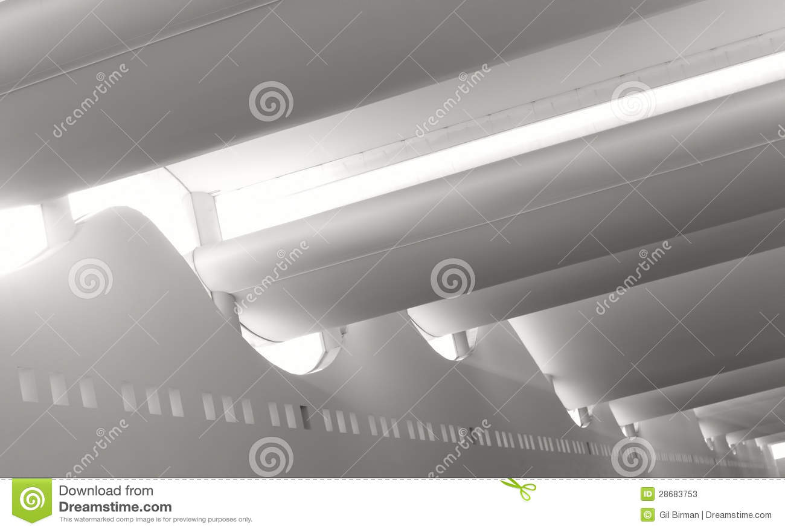 Släta den Sunlit arkitekturinsidagallerien