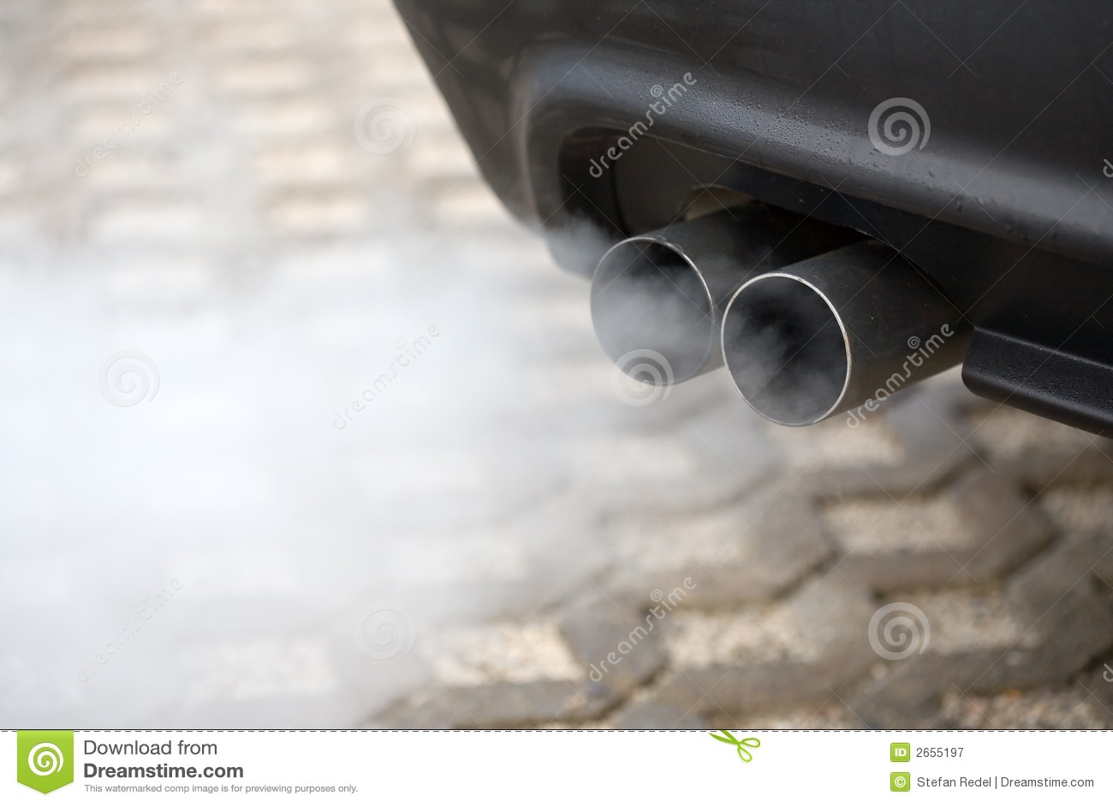 Slående bilavgasrörrør