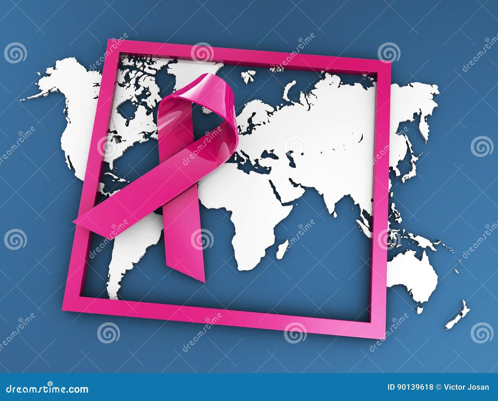 Slåss för att avsluta cancer, illustrationen isolerad blått 3d