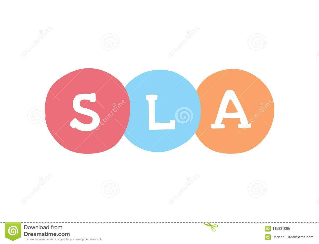 Download SLA Marketing Concept. Service Level Agreement Vector Business  Acronym. Stock Vector