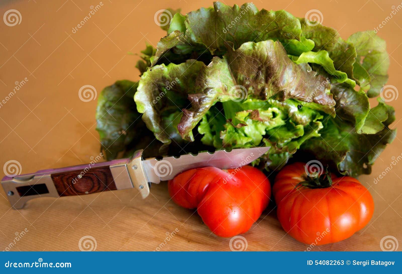 Sla met tomaten