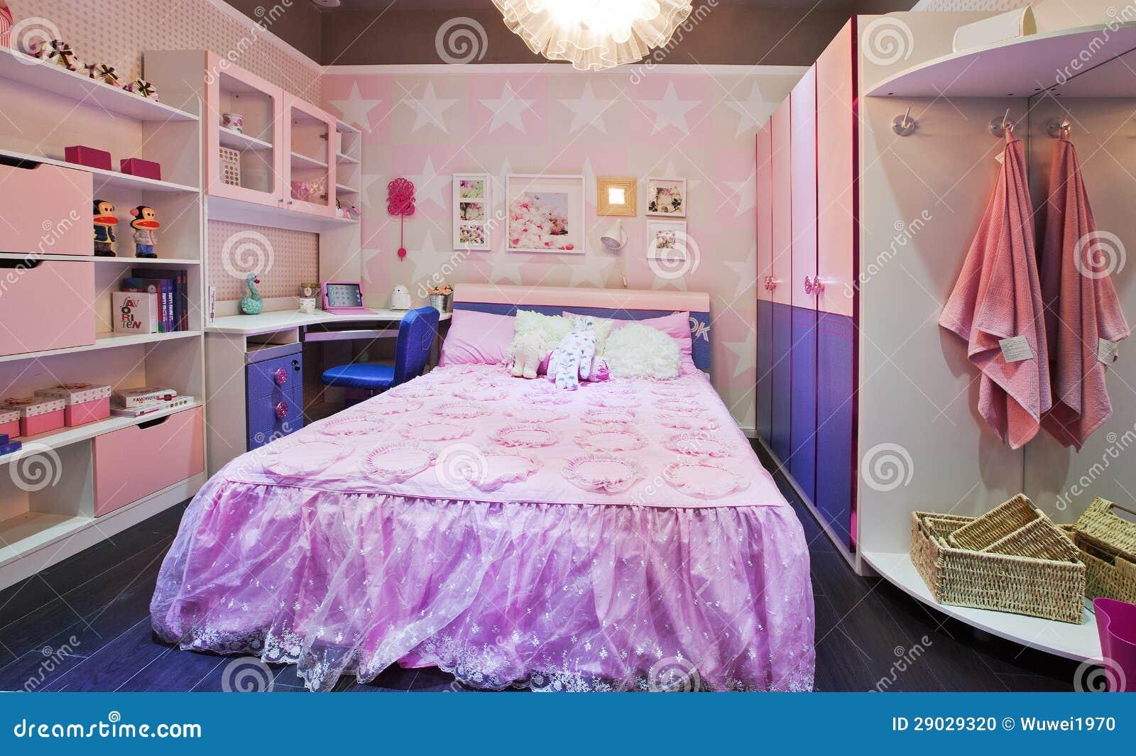 Slaapkamer van kinderen stock foto afbeelding bestaande uit