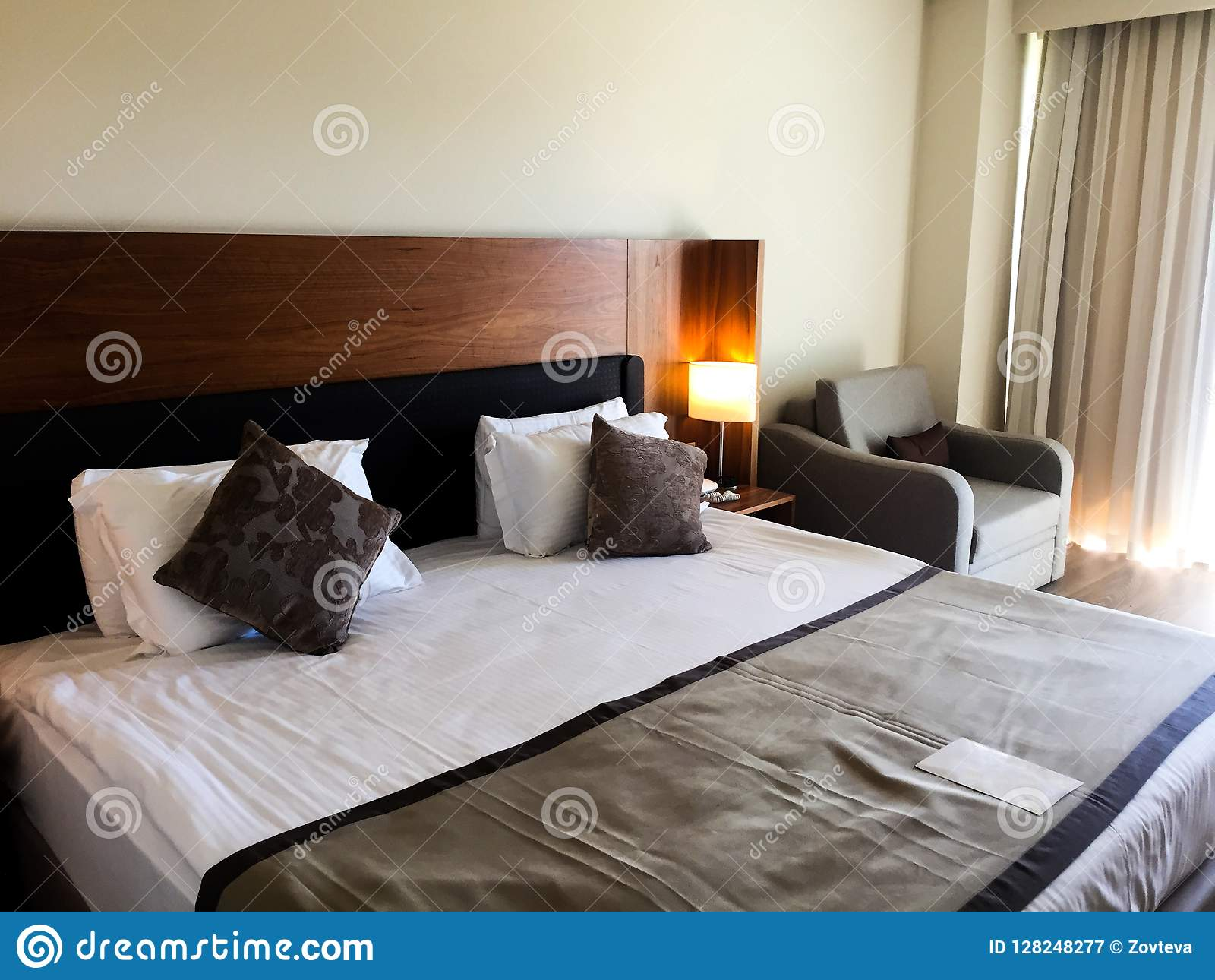 Slaapkamer bij hotel