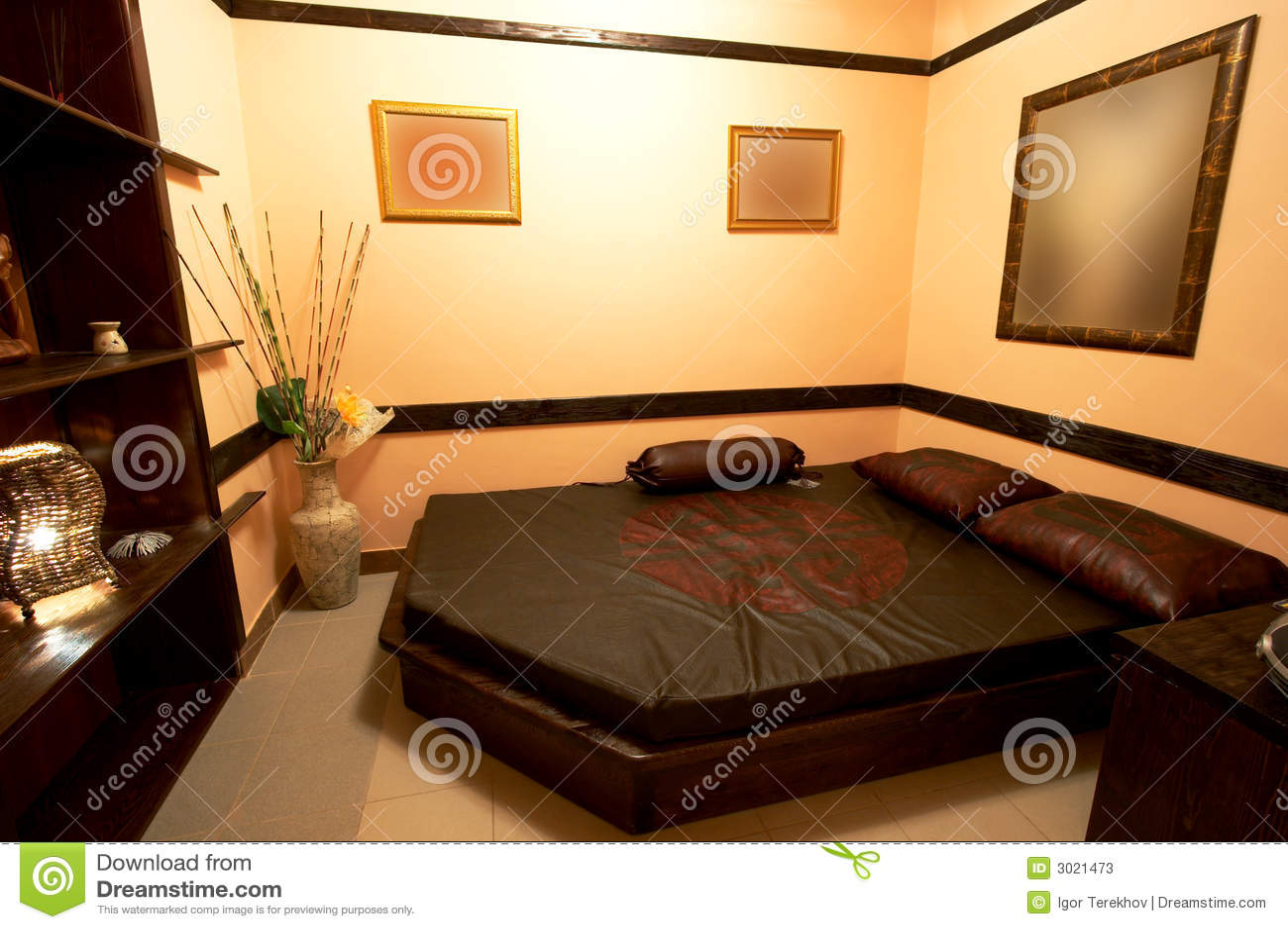 Slaapkamer in de japanse stijl stock foto 39 s afbeelding 3021473 - Japanse deco slaapkamer ...