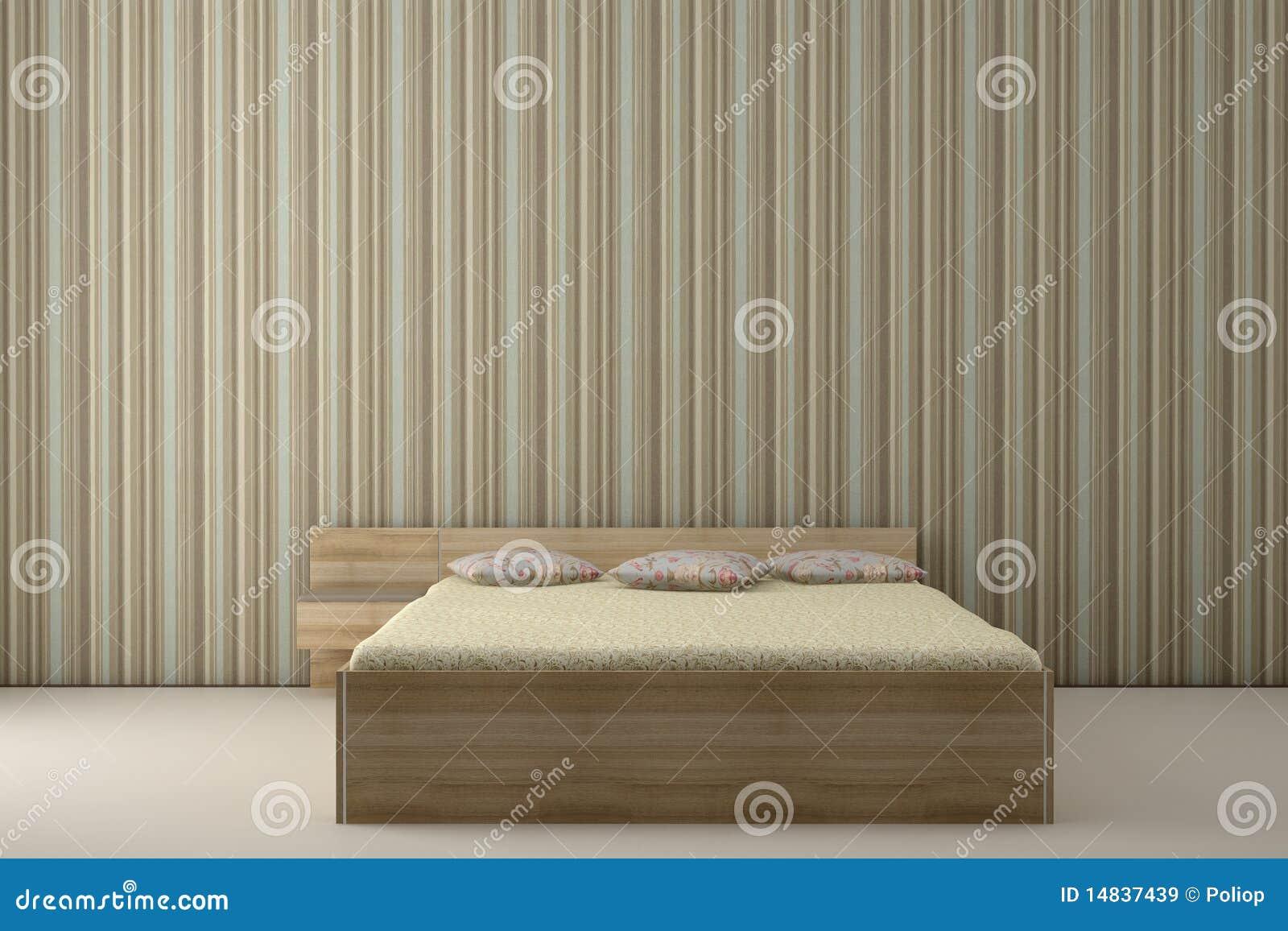 Natuur Behang Slaapkamer : Slaapkamer En Gestreept Behang Royalty ...