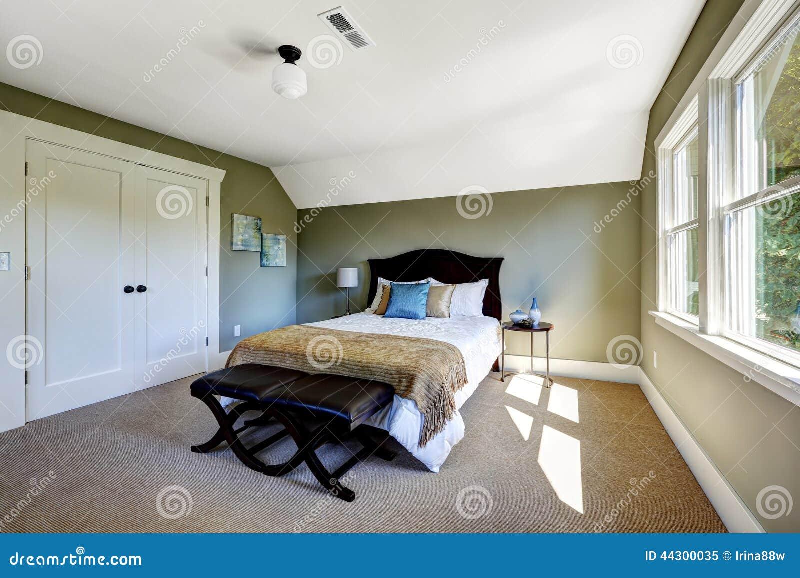 https://thumbs.dreamstime.com/z/slaapkamer-met-groene-muren-en-gewelfd-plafond-44300035.jpg