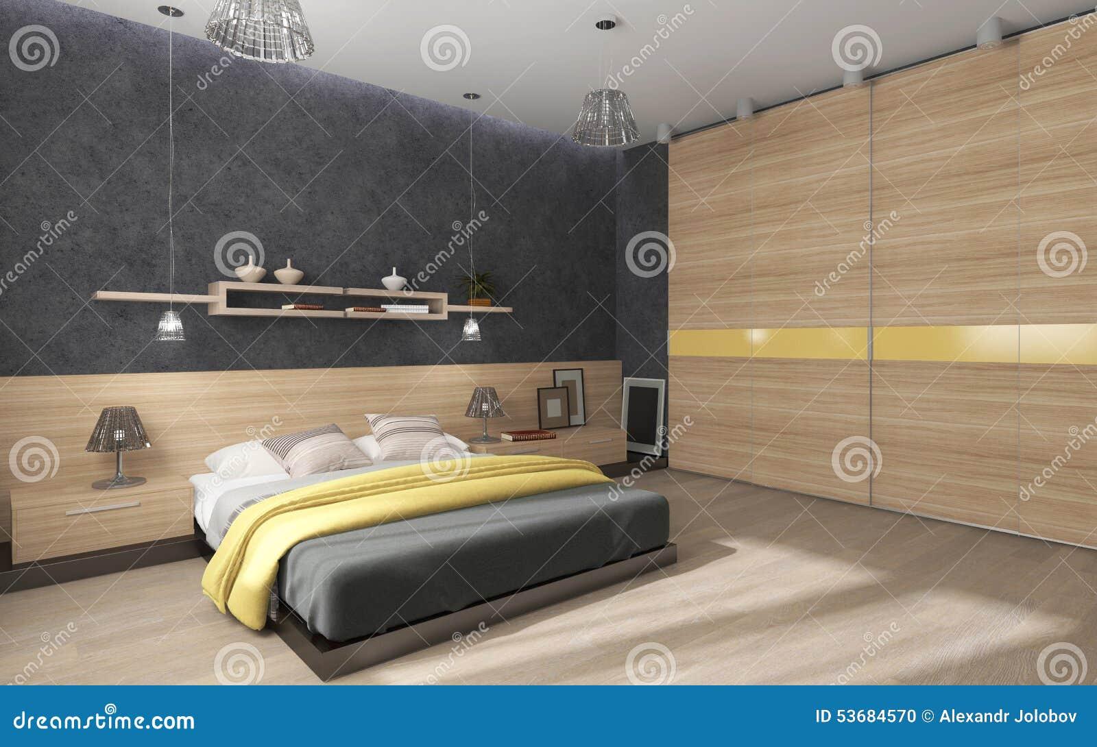 Grote Slaapkamer Kast : Slaapkamer met grote kast stock illustratie illustratie bestaande