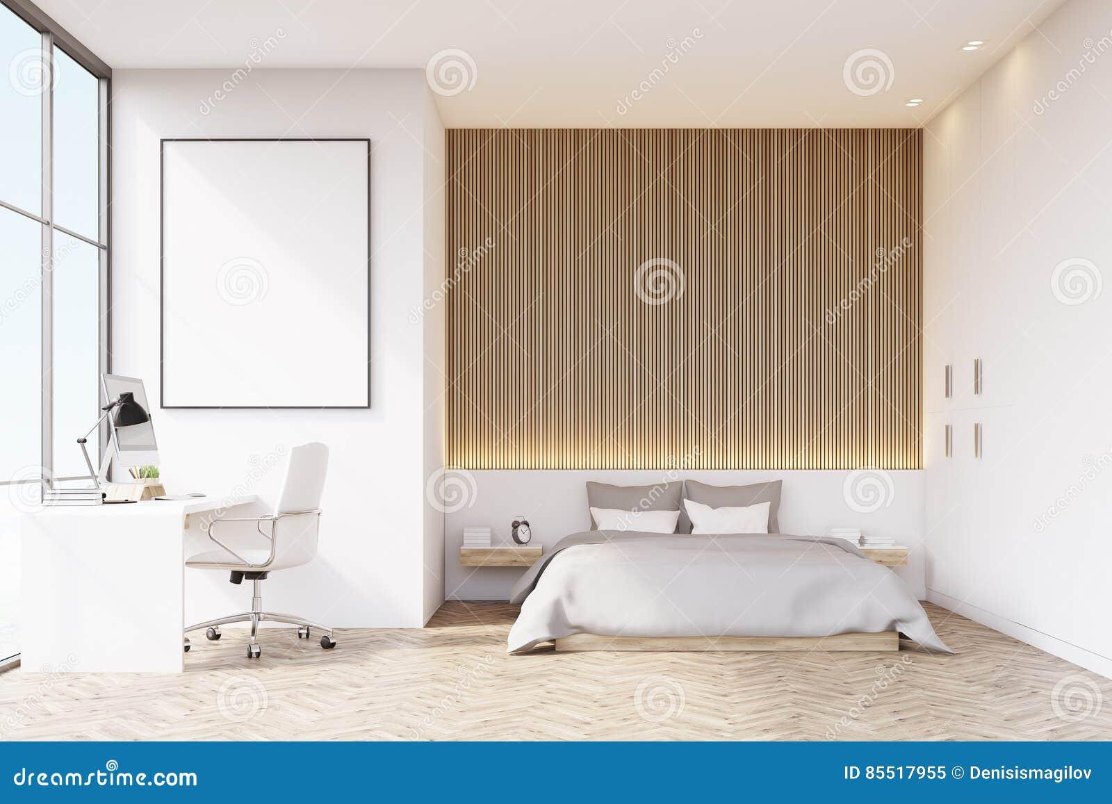 Houten Vloer Slaapkamer : Slaapkamer met houten vloer en lijst stock illustratie illustratie