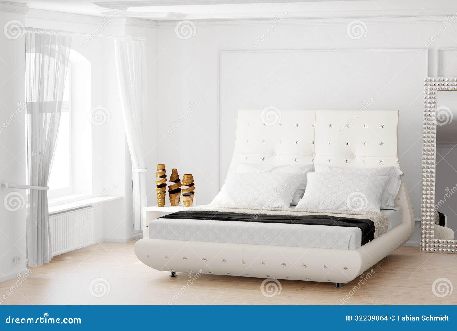 Slaapkamer met spiegel stock afbeeldingen   afbeelding: 32209064
