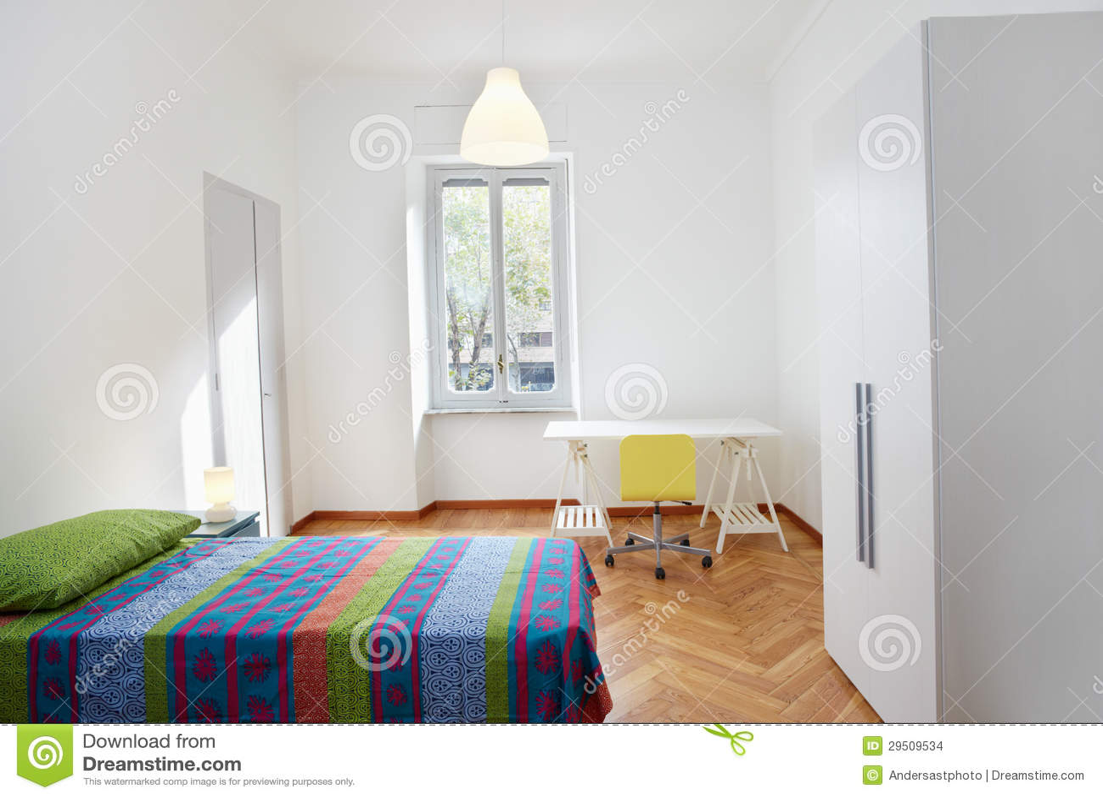 Slaapkamer in moderne flat