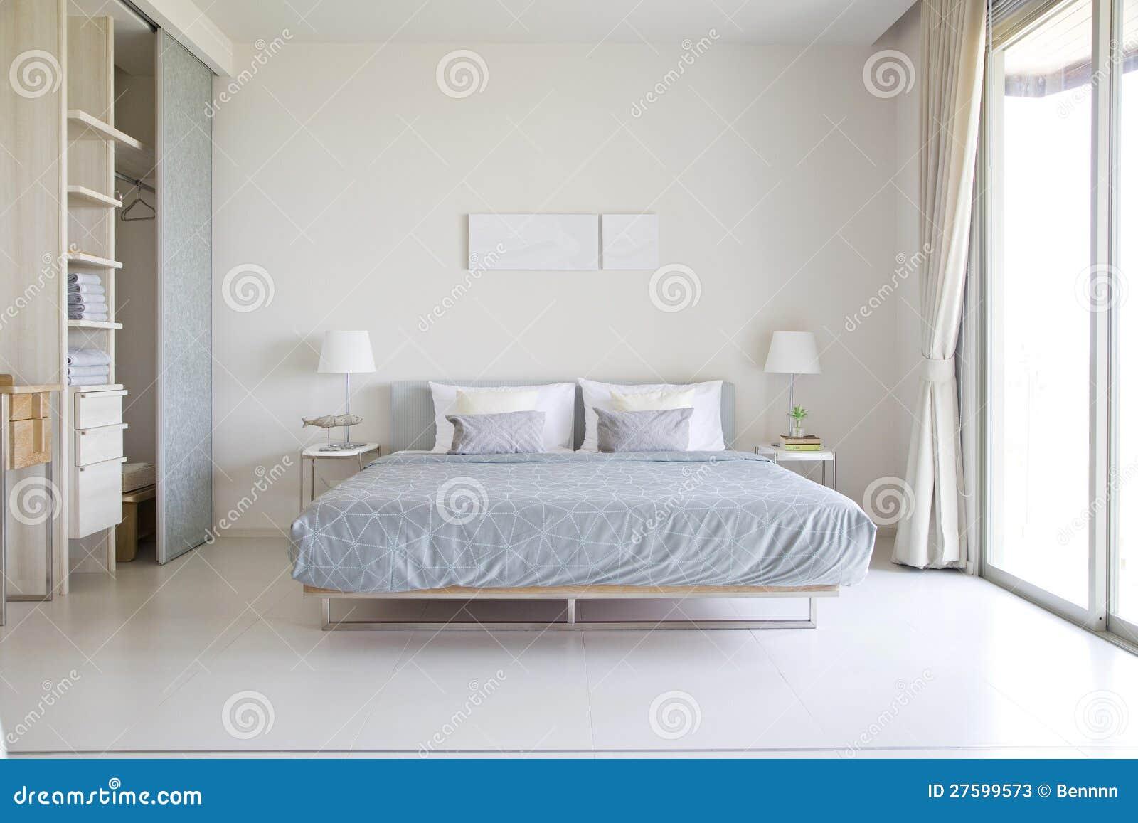 Slaapkamer in moderne stijl stock afbeelding afbeelding bestaande