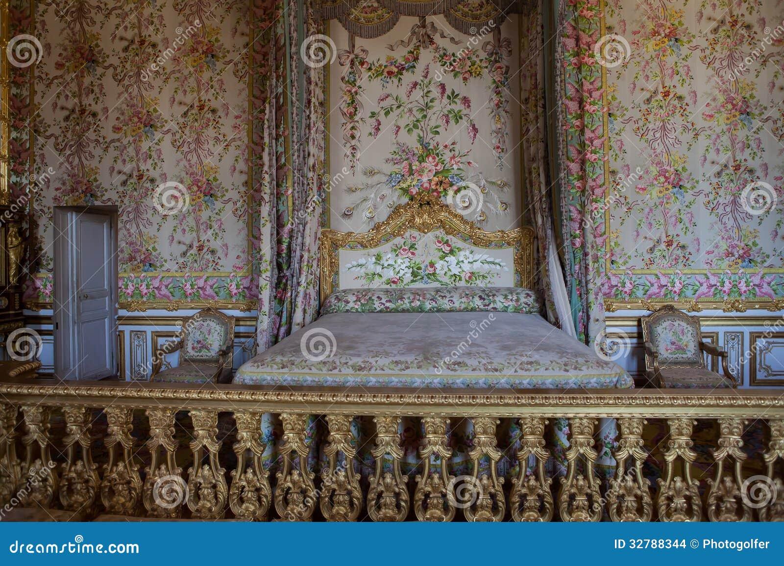 Slaapkamer van de koningin chateau de versailles frankrijk redactionele stock afbeelding - Fotos van de slaapkamers ...