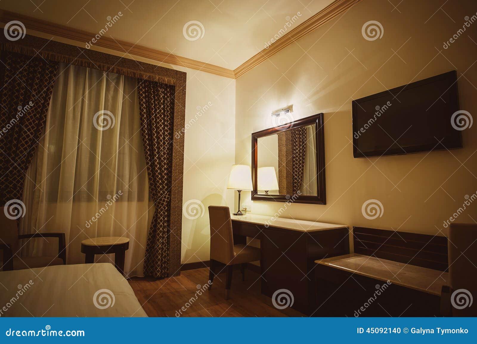 Slaapkamer van het luxe de moderne hotel stock foto afbeelding 45092140 for Slaapkamer deco