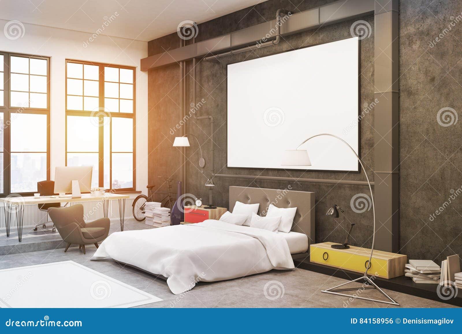 Decoratie Slaapkamer Muur : Slaapkamer zwarte muren stock illustratie illustratie bestaande