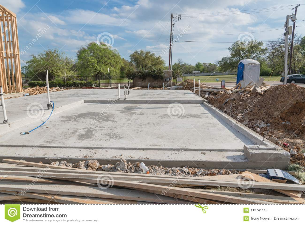 Slab On Grade Foundation Concrete For Timber Frame House In