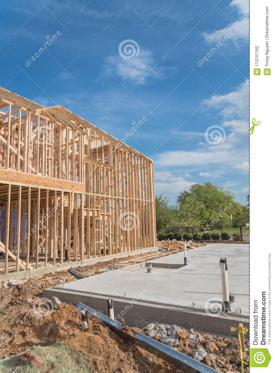 Details Wall Steel Frame Section Foundation Ture Ranch Home Plan House Plans