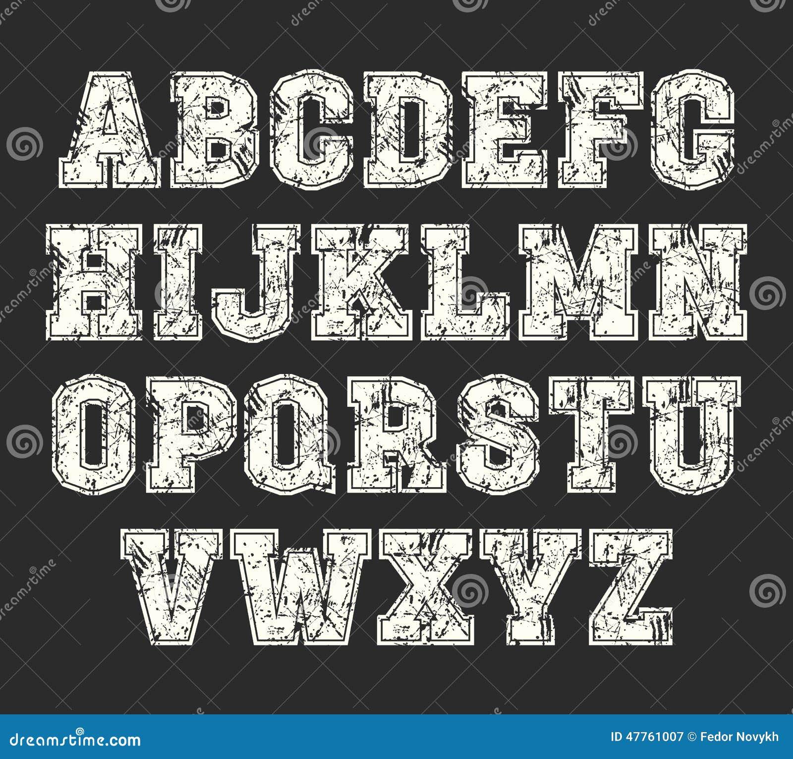 college lettering font