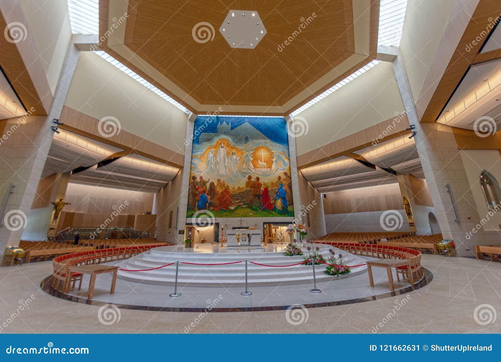 Slag, Mayo, Ierland Ierland ` s Nationaal die Marian Shrine in Co Mayo, door meer dan 1 wordt bezocht 5 miljoen mensen elk jaar S