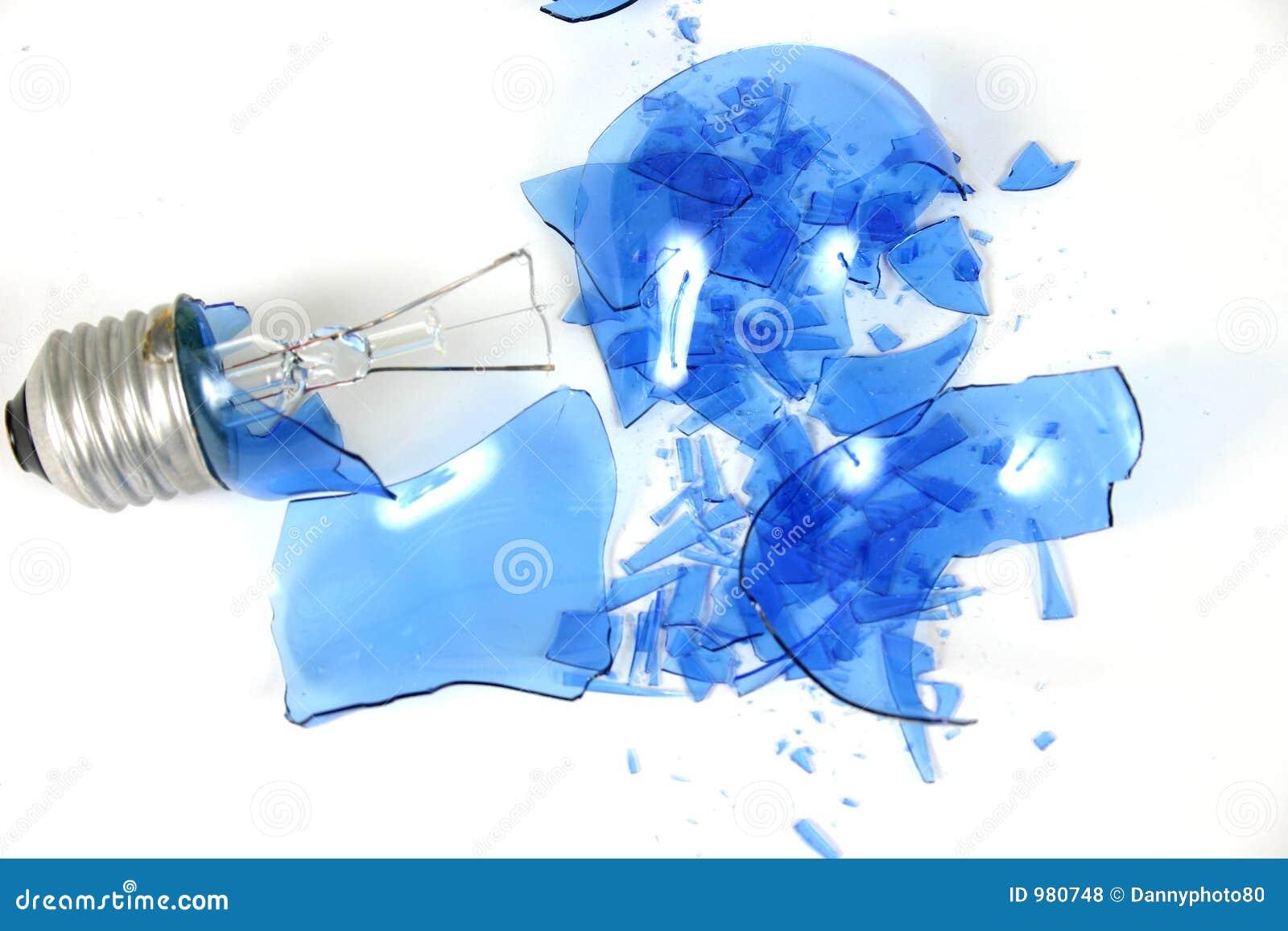 Slagen kulalampa för 3 blue