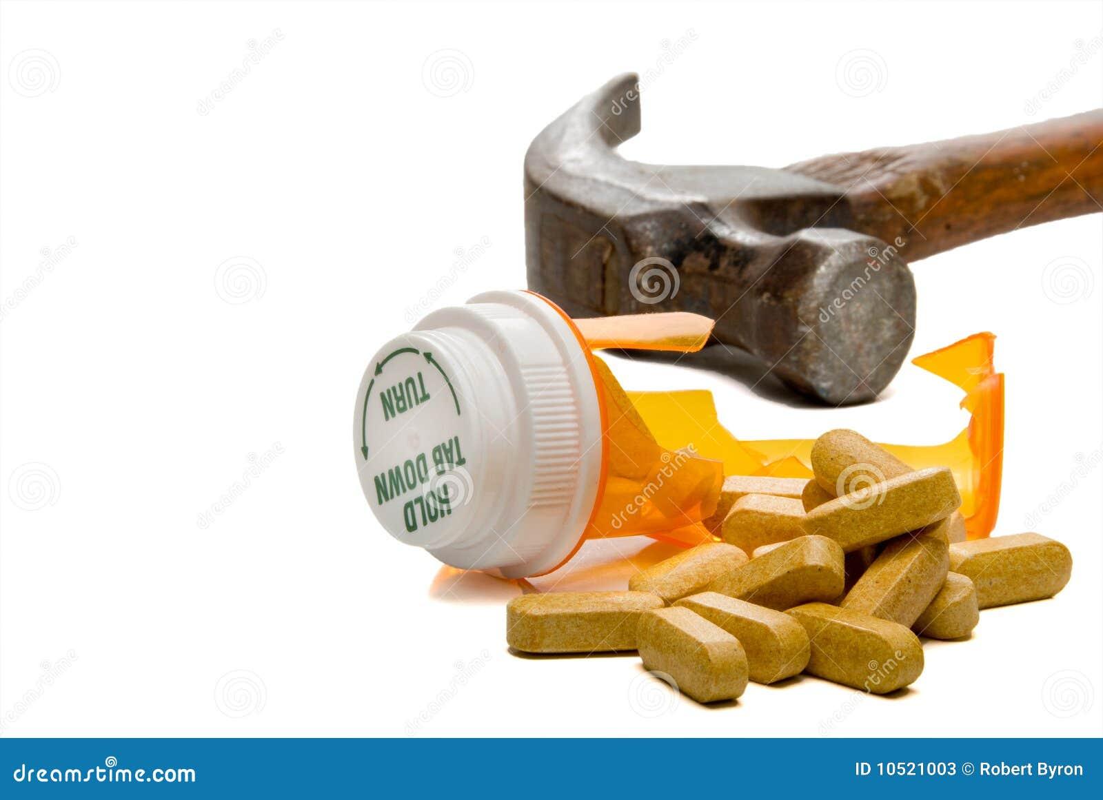 Slagen Pillflaska