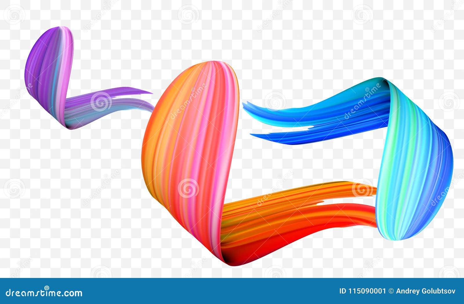 Slaglängd för akrylmålarfärgborste Ljus apelsin för vektor, sammet eller lilor och borste för målarfärg för blåttlutning 3d på ge