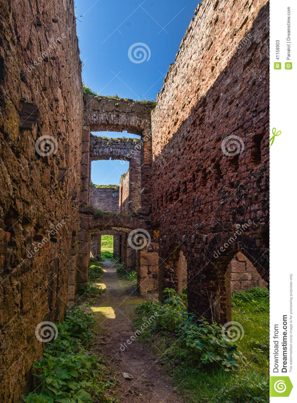 slains castle main passage ruins uk scotland passageway scottish north east coast reputed to have been 41158903